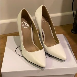 Missguided Shoes - White heels